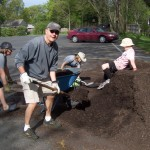 Mulching at the Spring clean-up